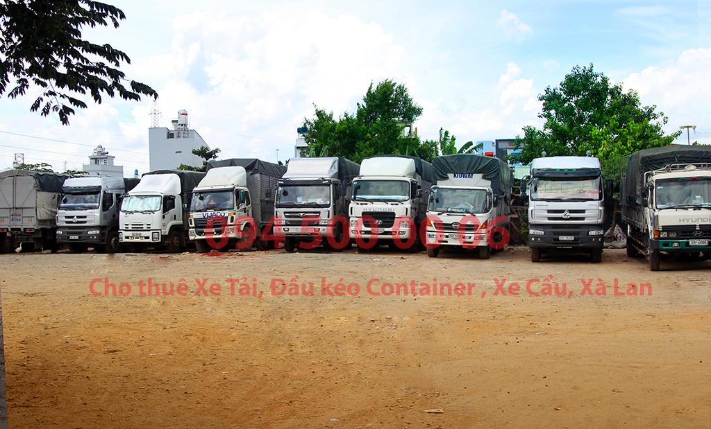 (Ảnh: Bãi xe HCM, Chành xe Phú Quốc công ty CON RÙA BIỂN có nhiều loại xe tải từ 8 tấn, 15 tấn, 20 tấn và đầu kéo container , cho thuê xe tải nguyên chiếc)