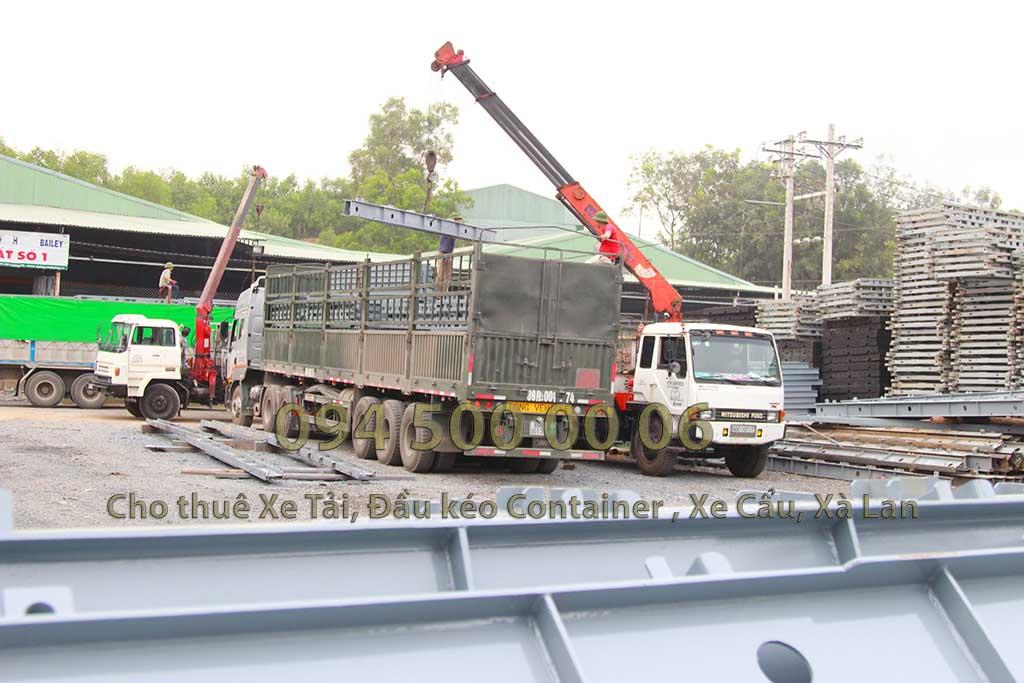 Ảnh: Dịch vụ Cho thuê xe cẩu tại Đồng Nai: Cty Con Rùa Biển đang nhận vận chuyển kết cẩu thép từ Đồng Nai đi Hưng Yên
