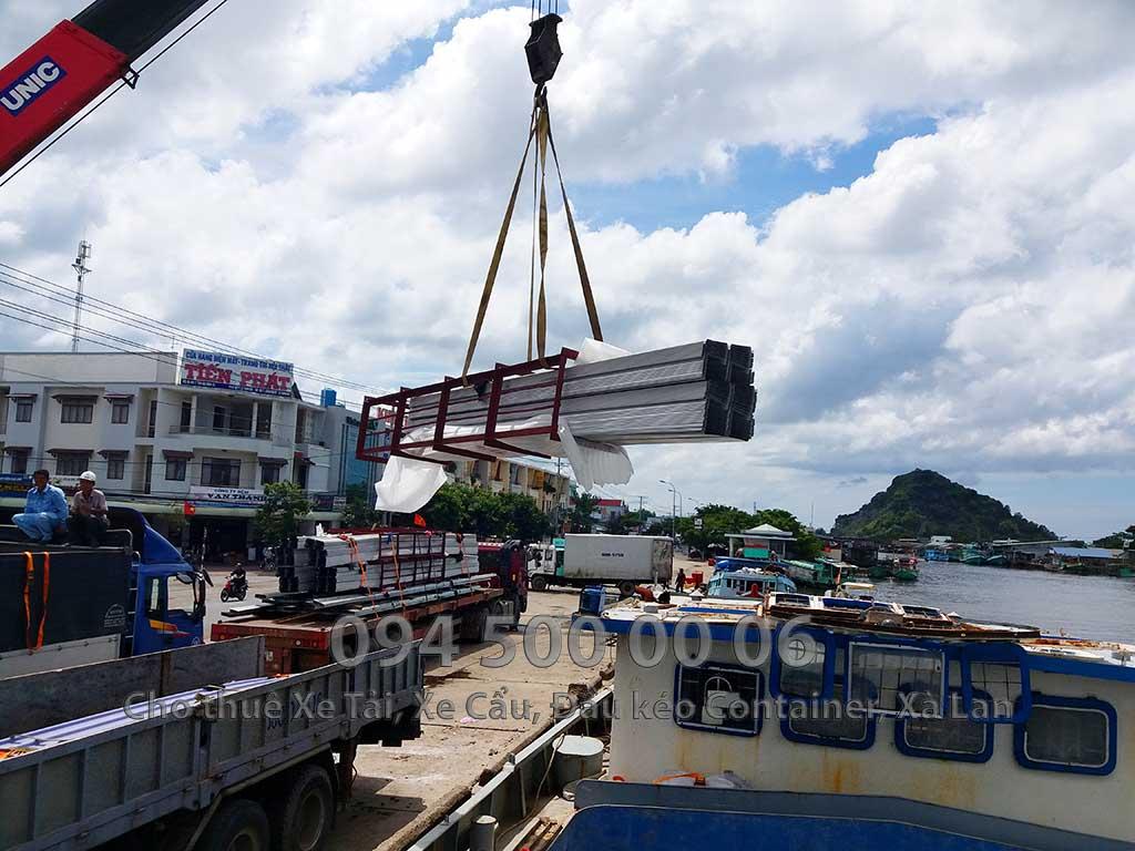 Dự Án vận chuyển kết cấu thép ra công trình Sân Bay Phú Quốc của ATAD 23