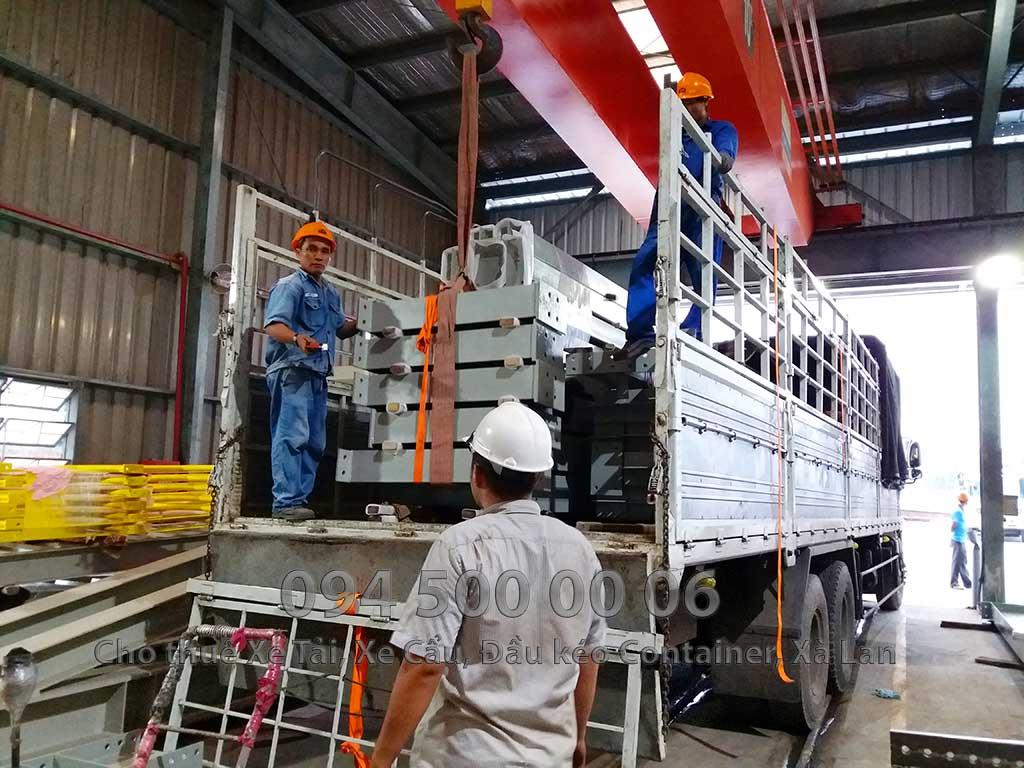 Dự án vận chuyển kết cấu thép ATAD ra đảo Phú Quốc xây dựng công trình của MASAN PQ 10