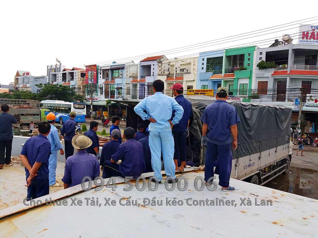 Dự án vận chuyển kết cấu thép ATAD ra đảo Phú Quốc xây dựng công trình của MASAN PQ 12