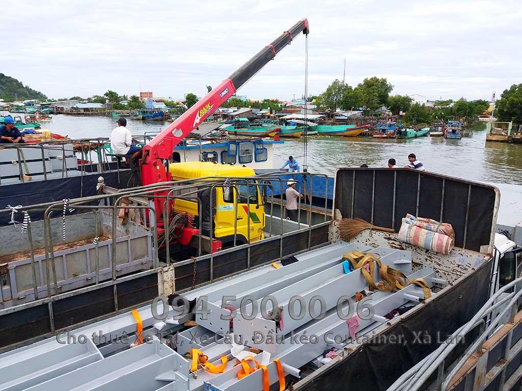 Dự án vận chuyển kết cấu thép ATAD ra đảo Phú Quốc xây dựng công trình của MASAN PQ 13