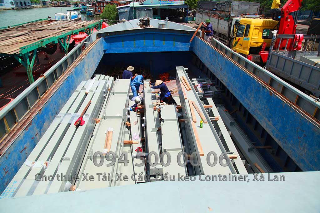 Dự án vận chuyển kết cấu thép ATAD ra đảo Phú Quốc xây dựng công trình của MASAN PQ 17