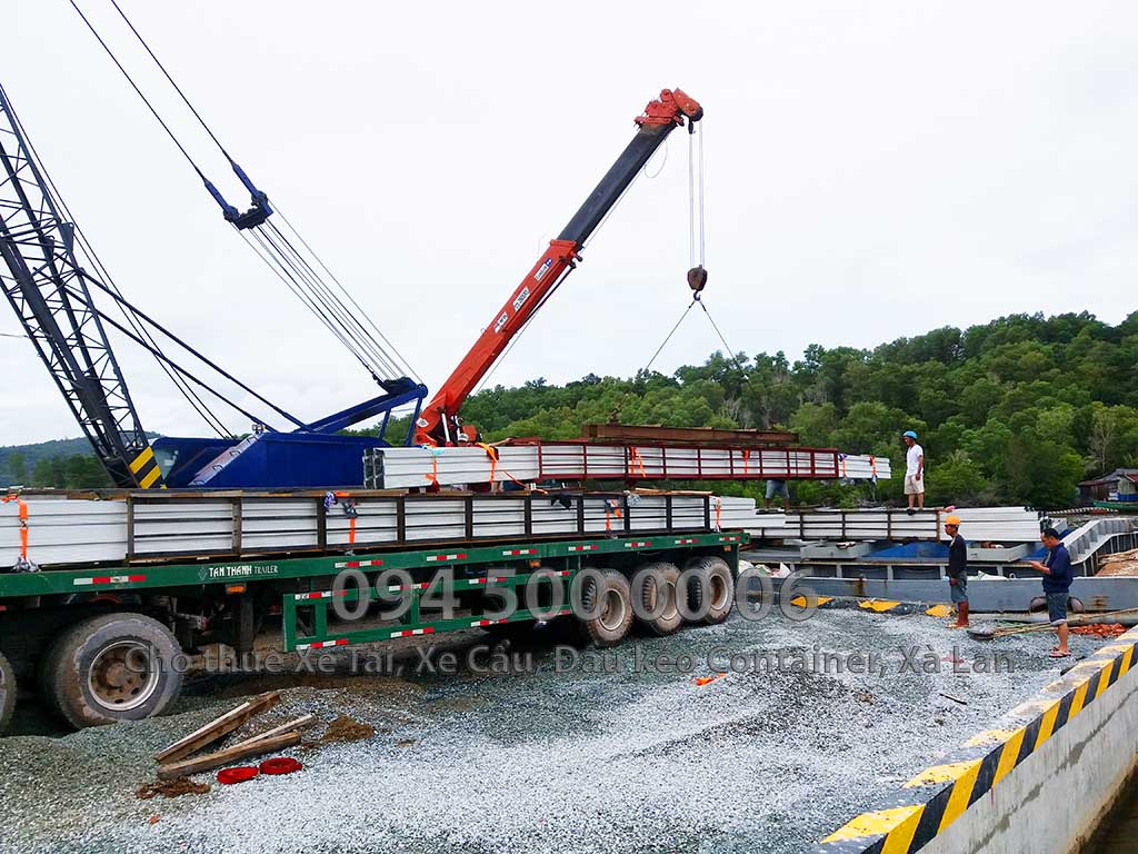 Dự án vận chuyển kết cấu thép ATAD ra đảo Phú Quốc xây dựng công trình của MASAN PQ 21