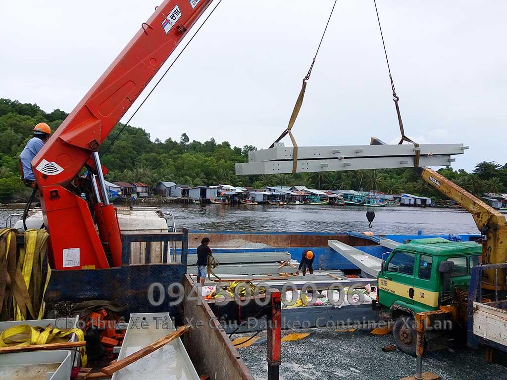 Dự án vận chuyển kết cấu thép ATAD ra đảo Phú Quốc xây dựng công trình của MASAN PQ 23