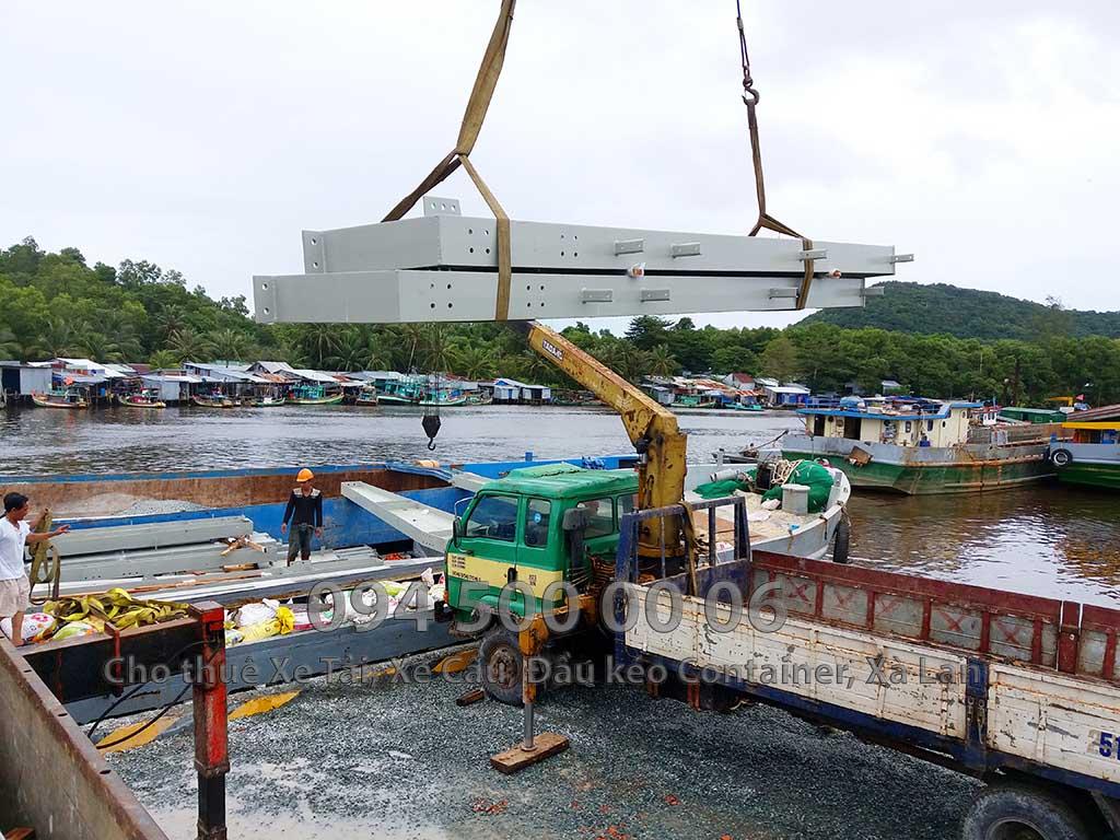 Dự án vận chuyển kết cấu thép ATAD ra đảo Phú Quốc xây dựng công trình của MASAN PQ 24
