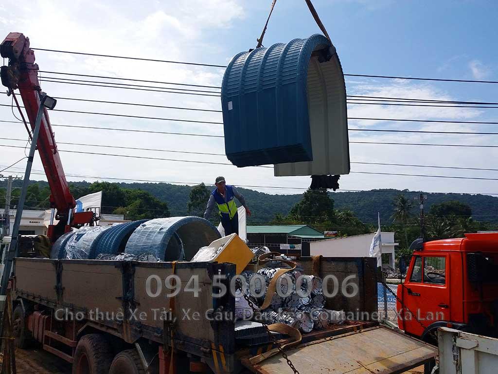 Dự án vận chuyển kết cấu thép ATAD ra đảo Phú Quốc xây dựng công trình của MASAN PQ 27