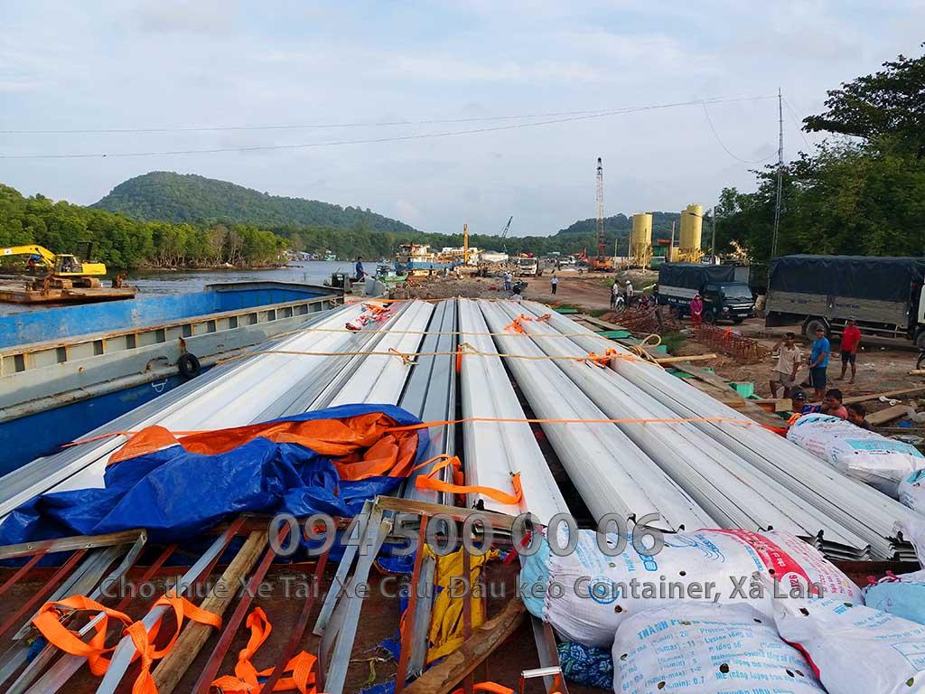 Dự án vận chuyển kết cấu thép ATAD ra đảo Phú Quốc xây dựng công trình của MASAN PQ 30