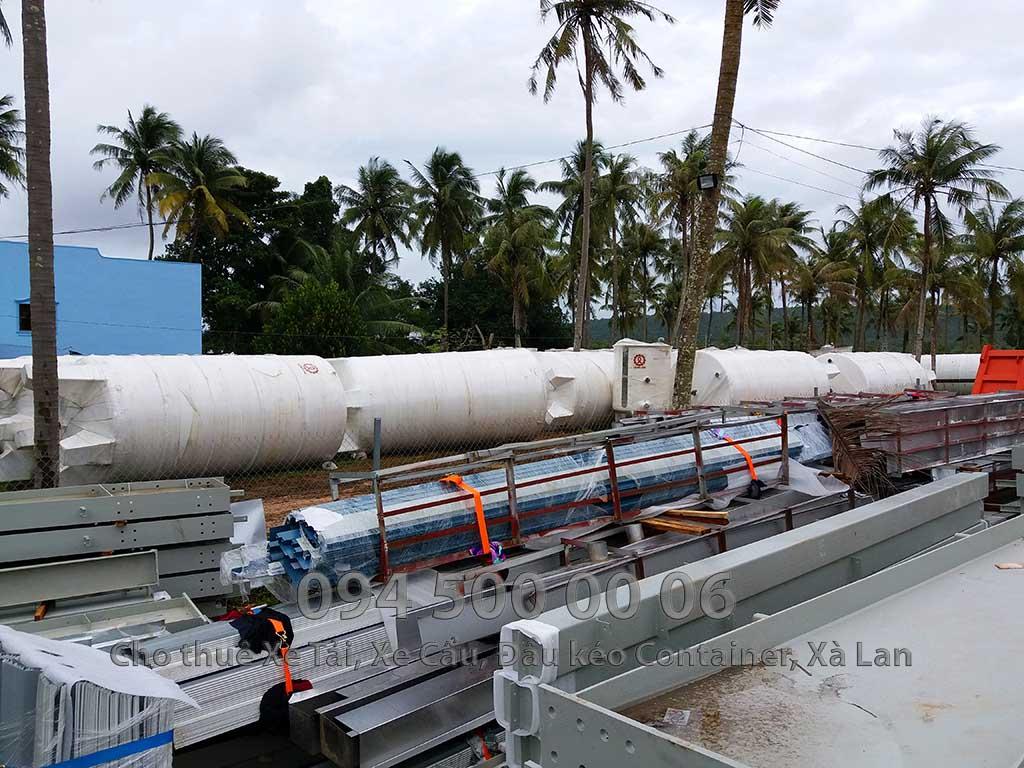 Dự án vận chuyển kết cấu thép ATAD ra đảo Phú Quốc xây dựng công trình của MASAN PQ 31