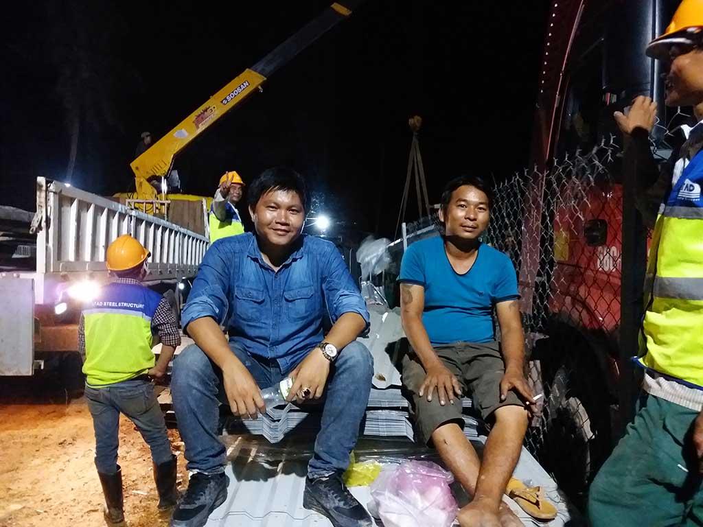 Dự án vận chuyển kết cấu thép ATAD ra đảo Phú Quốc xây dựng công trình của MASAN PQ 35