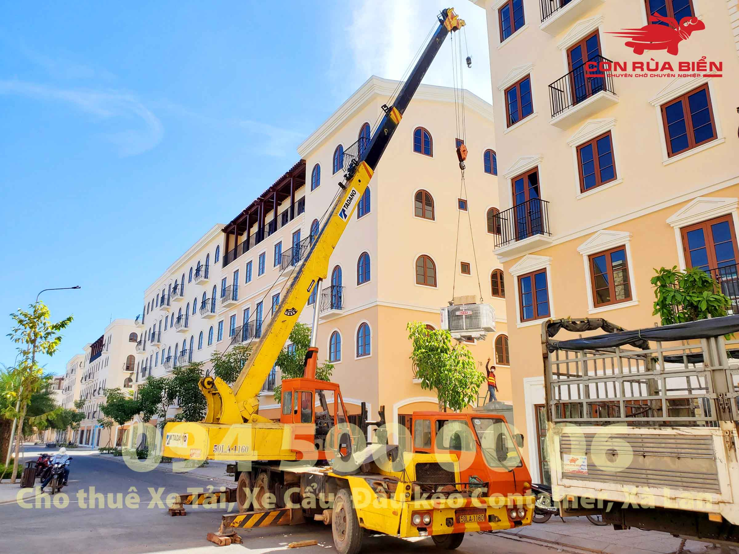 (Ảnh: Chành xe Phú Quốc công ty CON RÙA BIỂN cho thuê xe tải đi Phú Quốc nguyên chiếc (bao xe)