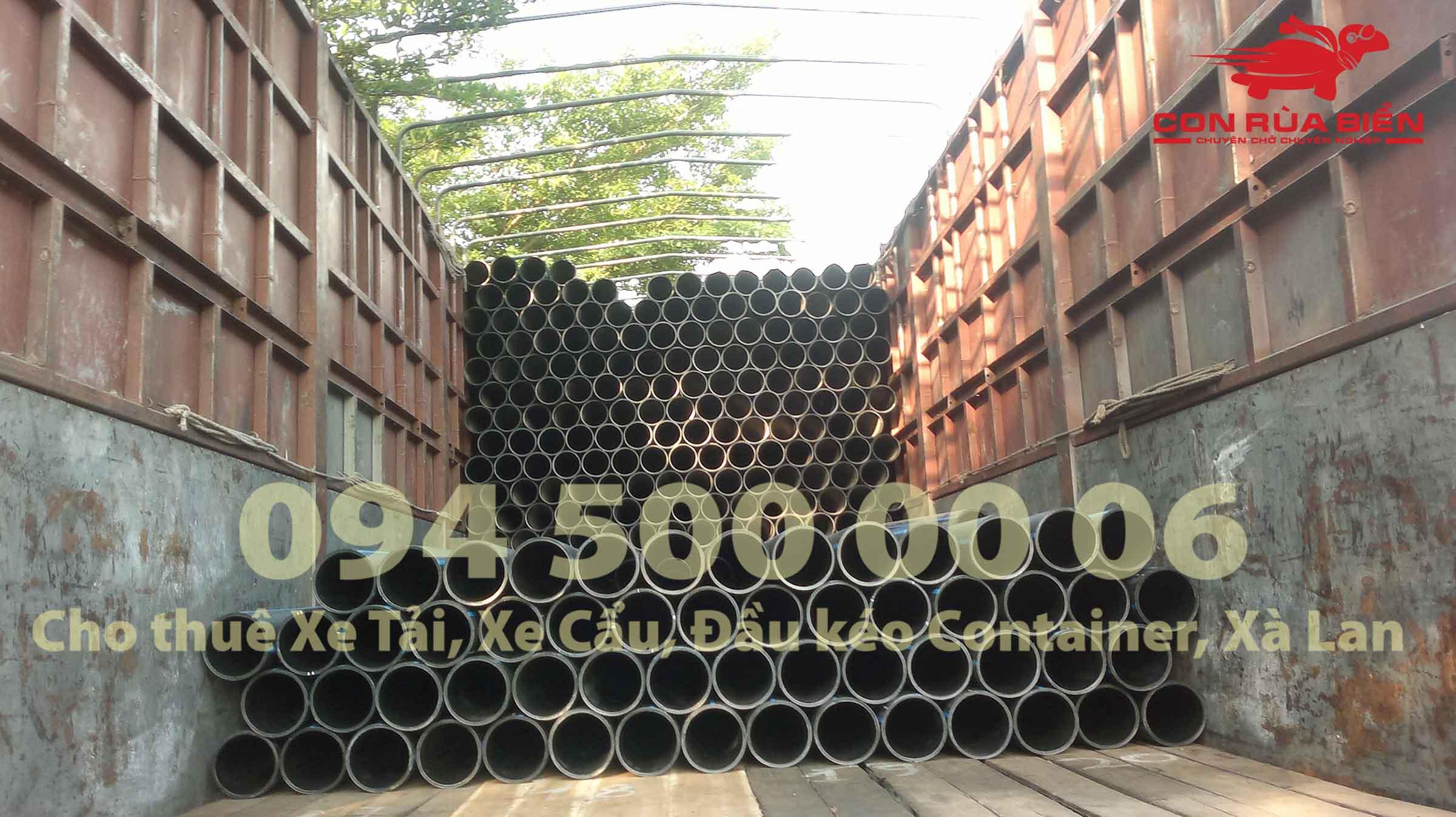 (Ảnh: Dự án Vận chuyển Ống Nhựa - CON RÙA BIỂN - Chành xe Phú Quốc)