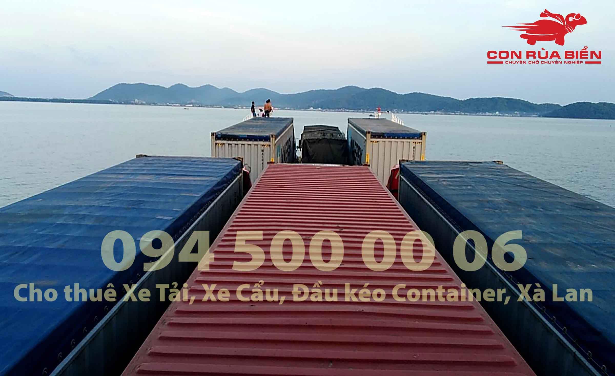 Cho thue xa lan ha mom cho xe tai cho xe dau keo container di Phu Quoc Hon Thom Nam Du 9