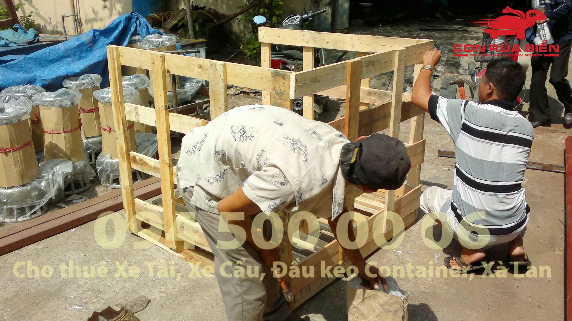 Van chuyen may bom tu HA Noi di Phu Quoc ghep xe tai duong bo 10